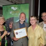 Graham Falla receiving his award